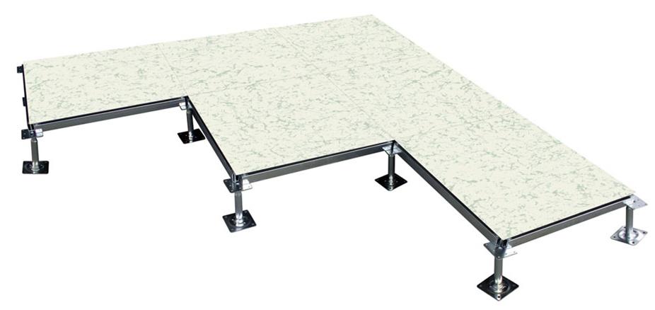 无边防静电地板组装效果图