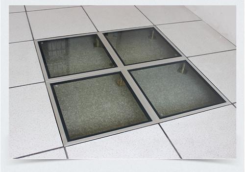 玻璃防静电地板组装效果