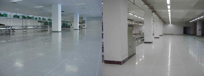 铺设PVC防静电地板